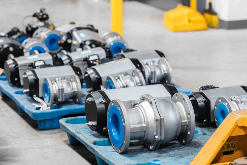 Automated Class 150 Flanged Ball Valves