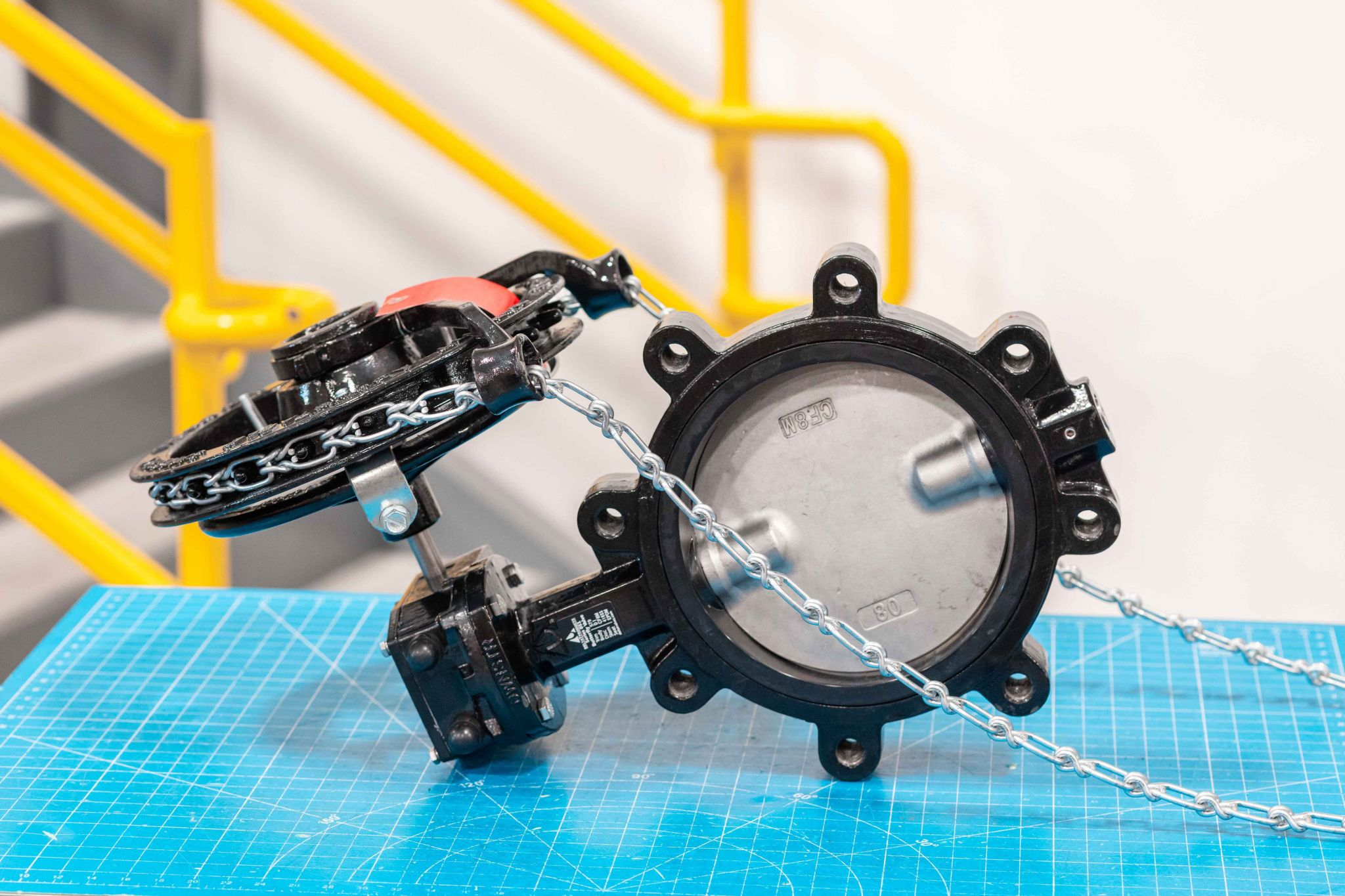 Gear Operated Resilient Seated Butterfly Valves w/ 50ft of Chainwheel