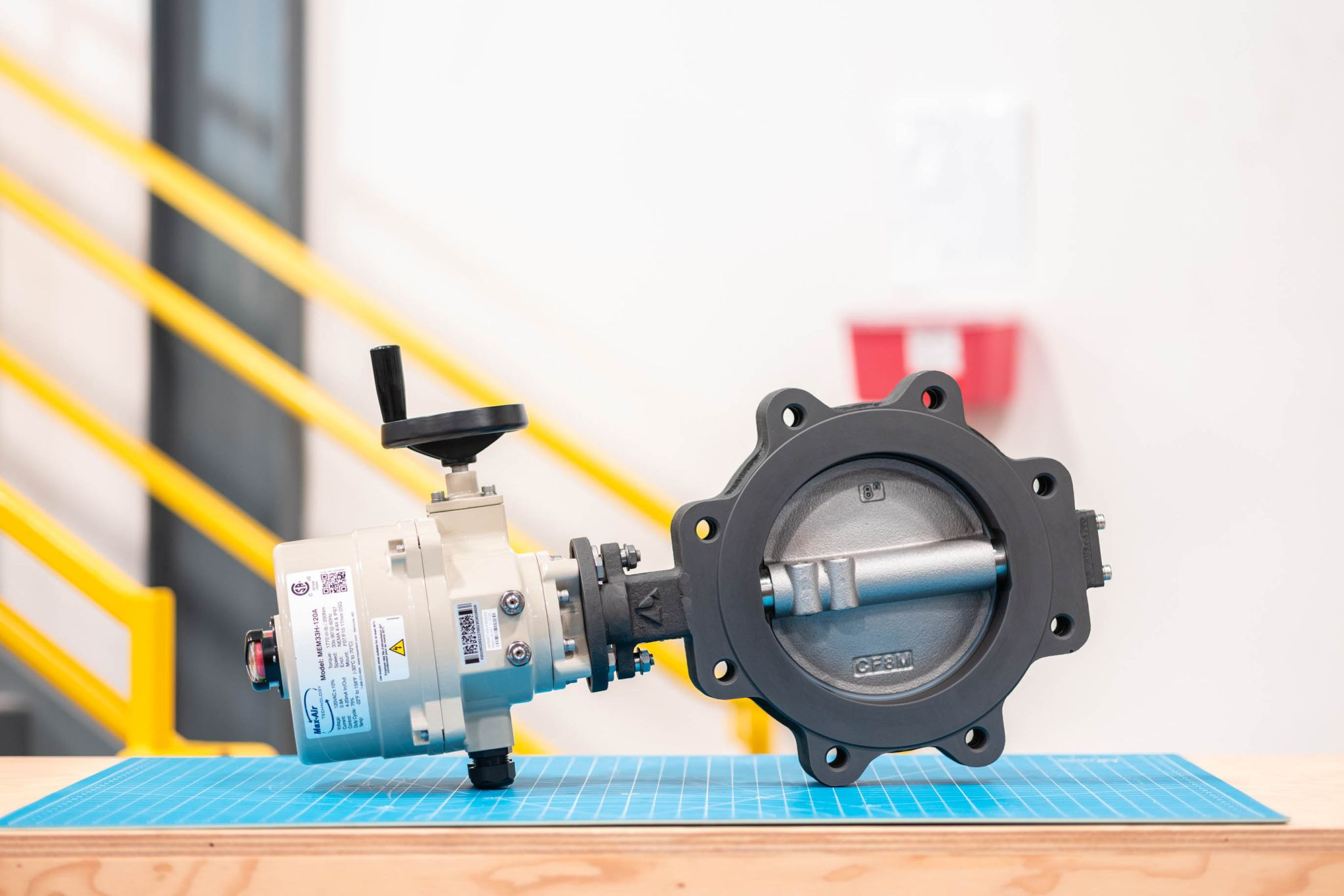 Class #150 High Performance Butterfly Valve w/ Direct Mount ME Series Electric Actuator