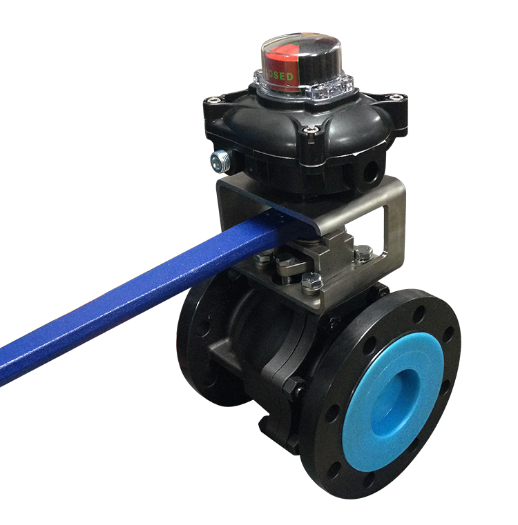 manual ball valve with position switch