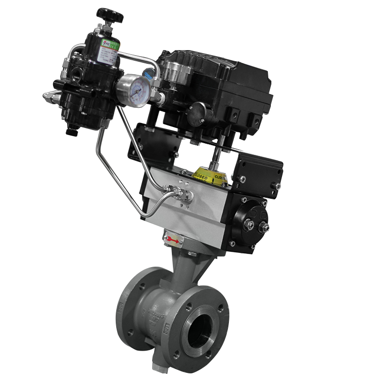 Rotary globe control valve assembly max air technology rotary style globe control valves w v notch can provide exceptional control within a compact package this assembly uses max airs mt17 publicscrutiny Gallery