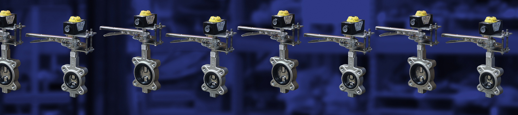 Manual SS Butterfly Valves w/ Limit Switch Kits