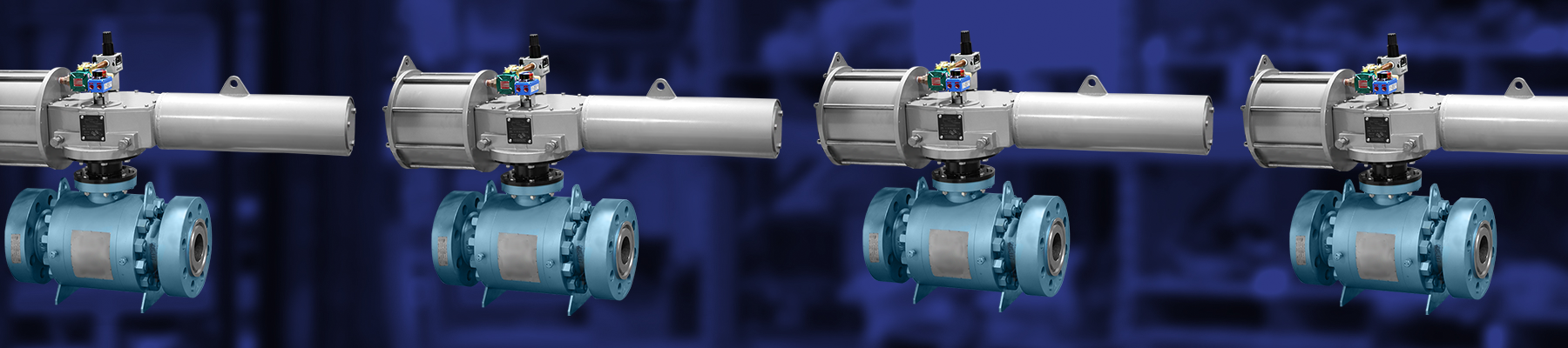 Scotch Yoke Actuated Trunnion Ball Valve